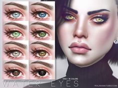 Eyes in 35 colors, all ages and genders  Found in TSR Category 'Sims 4 Eye Colors'
