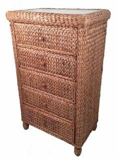 Seagrass 5 Drawer Chest - Miramar #seagrass #bedroom #furniture #dresser
