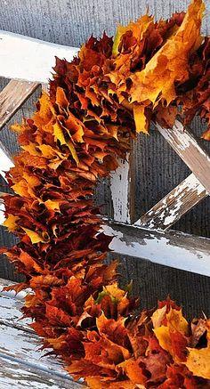 Krans van gevallen bladeren