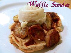 Eating Bariatric: Waffle Sundae (w/ Protein Ice Cream Recipe)