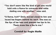 Teaser for Emily & Jake from Conduit by Angie Martin. www.amazon.com/dp/B00ISJO1D2