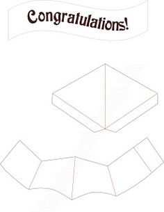 Extreme Cards And Papercrafting Graduation Cap Pop Up Card Tutorial in Fold Out Card Template - Professional Templates Ideas Pop Up Card Templates, Templates Printable Free, Congratulations Card Graduation, Loyalty Card Template, Hat Template, Business Plan Template, Graduation Cards, Graduation Ideas, Card Patterns
