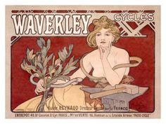 Waverley Cycles Lámina giclée por Alphonse Mucha en AllPosters.es