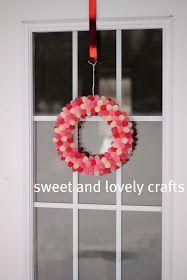 sweet and lovely crafts: gumdrop Valentine's Day wreath