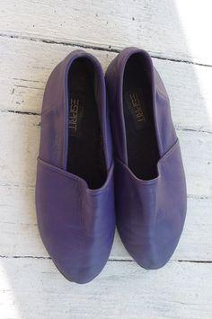 esprit vintage shoes purple  leather mod 1980s by cozystudio, $35.00