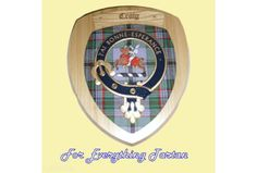 Clan Craig Tartan Woodcarver Wooden Wall Plaque Craig Crest 7 x 8