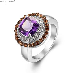 >> Click to Buy << 2017  Trendy Charm Jewelry Morganite Around Purple Quartz Stone 925 Sterling Silver Ring for women BALL GOWN Accessories R1290 #Affiliate