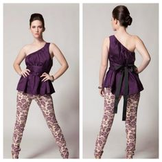 Gayla Rogers Collection 2013 www.gaylarogerscollection.com Silk one-shoulder top w/floral pants