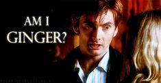 David Tennant (Doctor Who) wishing he had GINGER hair! haha