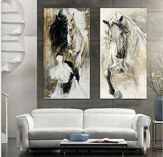 100-hand-painted-abstract-oil-painting-horse-walking-elegant-on-canvas-no-framed