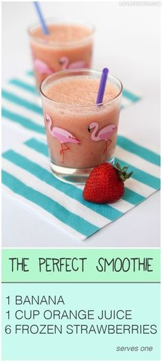 perfect smoothie drinks fruit smoothie recipe recipes healthy shakes fruit smoothie healthy drinks... even healthier if you squeeze your own orange