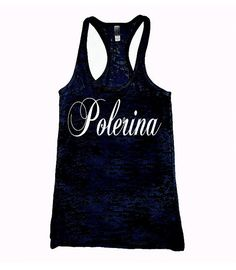 Polerina burnout pole tank top. womens pole dance by GirlyGrip