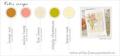 11th Anniv Color Recipe #7 - (Honey Nut, Melon Berry, Fine Linen, Simply Chartreuse, Lemon Tart)