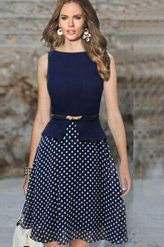 2018 Knee Length Dress Online In Dresses Store With Ball Gown Knee Length Round Collar A Line . Knee Length Dress For Sale Dot Dress, Dress Skirt, Dress Up, Navy Dress, Dress Casual, Belted Dress, Dress Long, Bodycon Dress, Cute Dresses