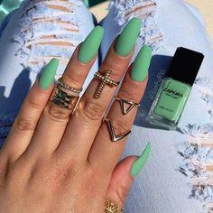 #Nails #LoveIt #MintGreen