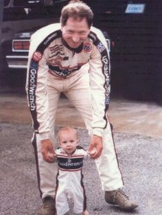 Dale Sr. with Dale Jr. ~ #DaleEarnhardtMemorial http://www.pinterest.com/jr88rules/dale-earnhardt-memorial/