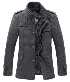L&C Fall/Winter 2013:The Ellis Mandarin Short Trench Charcoal!
