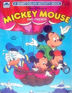 Mickey Mouse Giant Color/Activity Book, Golden Press #3156-6 ...