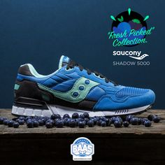 """#sauconyorigs #saucony #sauconyfreshpicked #sauconyblueberry #blueberry #freshpickedcollection #baasbovenbaas #sneakerbaas  Saucony Shadow 5000 """"Fresh Picked"""" Collection - Now available online!  For more info about your order please send an e-mail to webshop #sneakerbaas.com!"""
