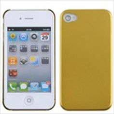 Aluminum Metallic Coating Surface Protective Cover Hard Case Shield for Apple iPhone 4G 4S - Golden $3.36
