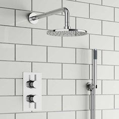 Aplin Concealed Shower Valve with Fixed Shower Head & Handset