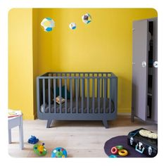Cot Bed Joli Mome 60 x 120 convertible: joli mome 120 x60 dark grey