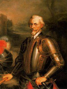 Rodrígo Ponce de León. 1858. Óleo sobre lienzo. 154 x 125 cm. Excmo. Ayuntamiento de Sevilla. Obra de Andrés Cortés y Aguilar