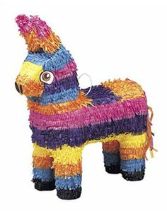 Add some tradition to your Mexican party with this classic colourful Burro/Donkey piñata. Try filling with sweets and little toys. Fun for kids and adults!