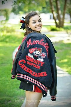 2e405a6688d7d Cheer   Cheerleader   Cheerleading Portrait   Photo   Picture Idea -  Varsity Letter Jacket