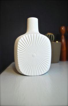 Mid-Century Matte White Porcelain