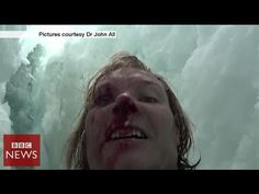 Climber films 20m crevasse fall in Himalayas - BBC News - YouTube