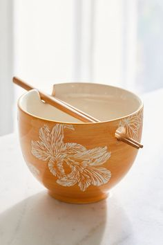 Shop Mix + Match Noodle Bowl + Chopstick Set at Urban Outfitters today. Ceramic Bowls, Ceramic Pottery, Ceramic Art, Slab Pottery, Pottery Vase, Ramen Bowl, Noodle Bowls, Stainless Steel Hood, Kitchenware