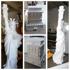 8ft EPS foam prop of Statue of Liberty we machined with our CNC router by WeCutFoam