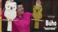 Búhos imitación macramé tejidos a crochet