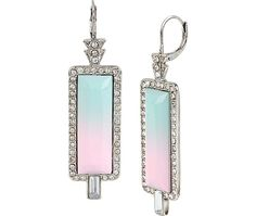 OCEAN DRIVE PINK DROP EARRINGS: Betsey Johnson