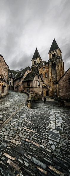 Conques, Midi-Pyrenees, France. travel, travel photos, travel destinations