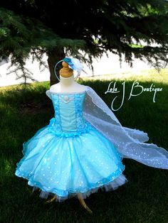 READY 2 SHIP Elsa Costume Dress Set - 2 3 year old Disney Tutus Frozen Infant Toddler Teal Aqua Cape Snowflake Winter by LolaJBoutique on Etsy