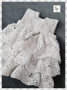 ESPECIAL ocasión vestido de blanco Baby Alma por SuziesTalents