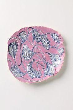 Ruan Hoffmann Pink Fleurs Plate #anthroregistry