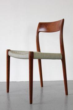 teakwood dining chairs by niels o. møller, 1959