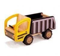 Pintoy kuorma-auto. Pintoy valmistaa tuotteens ylijääneestä kumipuusta, joka on jo kertaalleen käytetty kumiteollisuudessa. Myynnissä lastenverkkokauppa.fi. Valmistaja Pintoy.