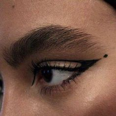 beauty-student:  Such a gorgeous thick brow! And liner that works with her eye shape perfectly.