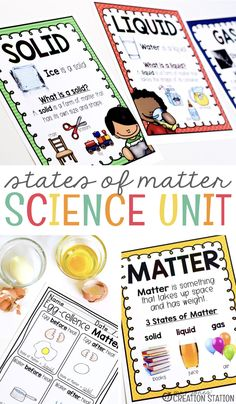 Teachers, exploring matter and energy in kindergarten and first grade is so much fun.  Watching little ones see the objects around them scientifically is exciting and a tad bit adorable.  But nothing beats the surprise as they see matter change before their eyes. States of Matter Unit for Little Learners - Mrs. Jones' Creation Station #Science #TpT #ScienceExperiments