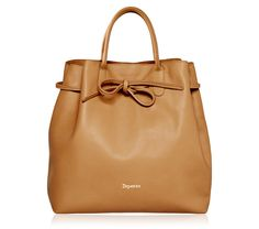 "Large Shopping Bag ""Arabesque"". Sand Brown Paris calfskin. #Repetto #RepettoBags #Sand #Brown #Caramel #RepettoArabesque"