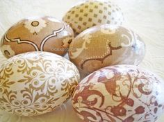 Taupe and Cream Easter Eggs, Elegant Easter Eggs, Neutral Easter Eggs, Glittered Easter Eggs, decoupage eggs Holiday Essentials, Glitter Paint, Egg Hunt, Scrapbook Paper, Easter Eggs, Decoupage, Taupe, Great Gifts, Projects To Try