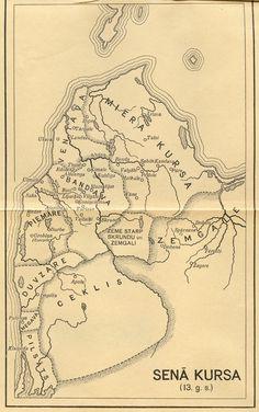 Senā Kursa. Curonian lands (Western Latvia) by the beginning of XIIIth century