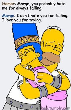 Homer and Marge Simpson :)