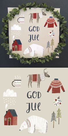 Tina Schulte, Christmas polar bear, winter, greeting card – Illustration - To Have a Nice Day Hygge Christmas, Christmas Mood, Scandinavian Christmas, Christmas Design, Christmas 2017, Christmas Themes, Christmas Decorations, Christmas Greetings, Theme Noel