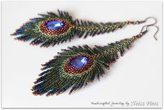 Sweet fringed feather earrings.