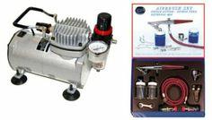 Amazon.com - PAASCHE H AIRBRUSH SET w/Quiet AIR BRUSH COMPRESSOR - Airbrush Painting Supplies